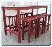 pub tables and bench sets